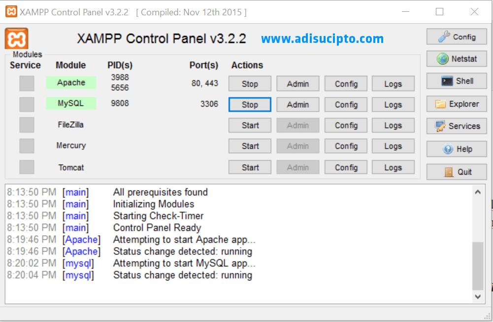 Cara menginstal XAMPP 7.1.1 - Gambar 10